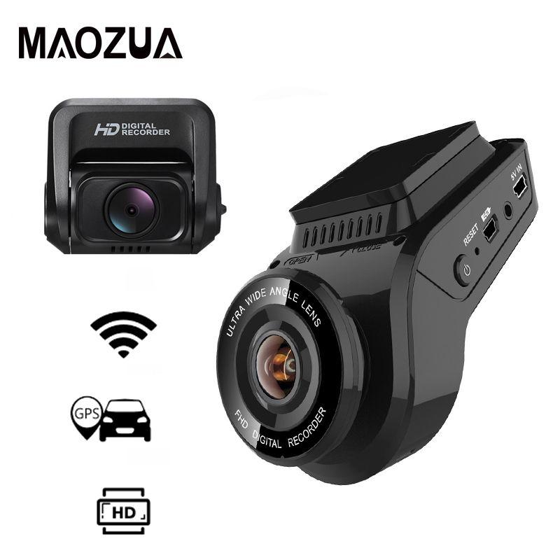 Maozua Auto Dash Cam 2160 P 4 K Ultra HD mit 1080 P Hinten Kamera WiFi GPS Logger ADAS Dual objektiv Dashcam Auto DVR Nachtsicht