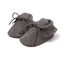 Baby Boy Girl Baby Moccasins Soft Shoes Fringe Soft Soled Non-slip Footwear Crib Shoes Newborn First Walkers Shoes