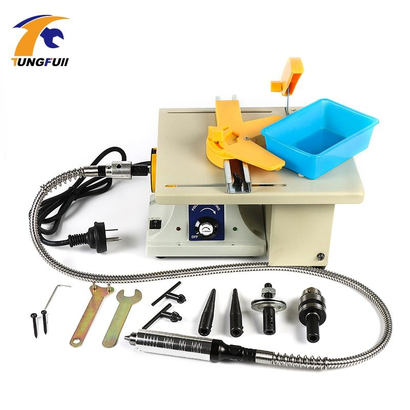 TUNGFULL Multifunctional Desk Cutting Grinding Polishing Carving Machine Jade Wood Nuclear Function Engraving In One Machine