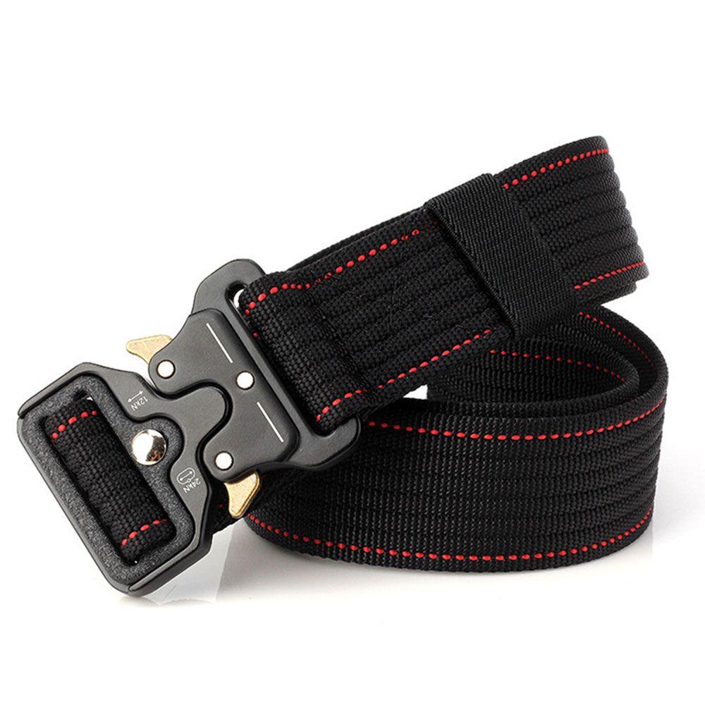 Waist Straps Practicality Military Equipment Men Women Training Belt Safety Zinc Alloy Buckle Combat Tactical Belt Durability