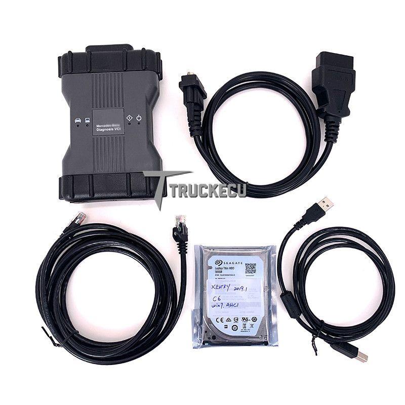 VXDIAG mb sd schließen C6 MB STAR Multiplexer c6 für Benz diagnose scanner wifi ersetzen mb sd c4 c5 xentry das wis epc mit HDD