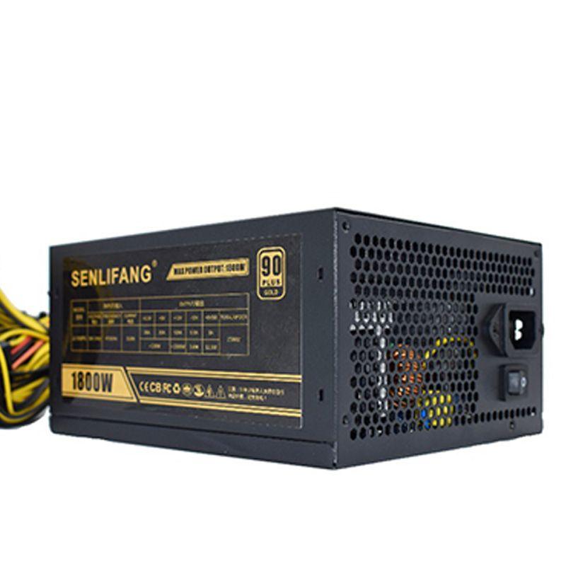 SENLIFANG ETH ZCASH MINER Gold POWER 1800W LIANLI 1800W BTC power supply for R9 380 RX 470 RX480 6 GPU CARDS DHL free shipping