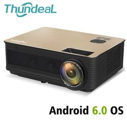 ThundeaL HD Projector TD86 4000 Lumen Android 6.0 WiFi Bluetooth Projector (Optional) Full HD 1080P LED TV Video 3D Projector