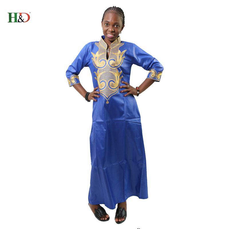 H & D Afrique Dashiki Broderie Robes Pour Femmes Top Africain Traditionnel Africain Privé Personnalisé Vêtements dashiki
