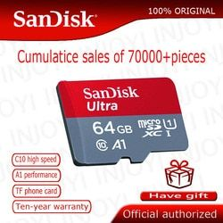 Карта памяти SanDisk MicroSD 16 ГБ 32 ГБ 64 Гб 128 Гб MicroSD Max 80 м/с Uitra C10 TF карта C4 8 г cartao de memoria