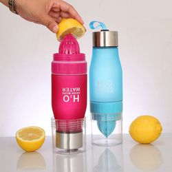 Xmas Gift 650ml My Water Bottle H2O Plastic Fruit Infusion Bottle Infuser Drink Outdoor Sports Juice lemon Portable Water Bootle