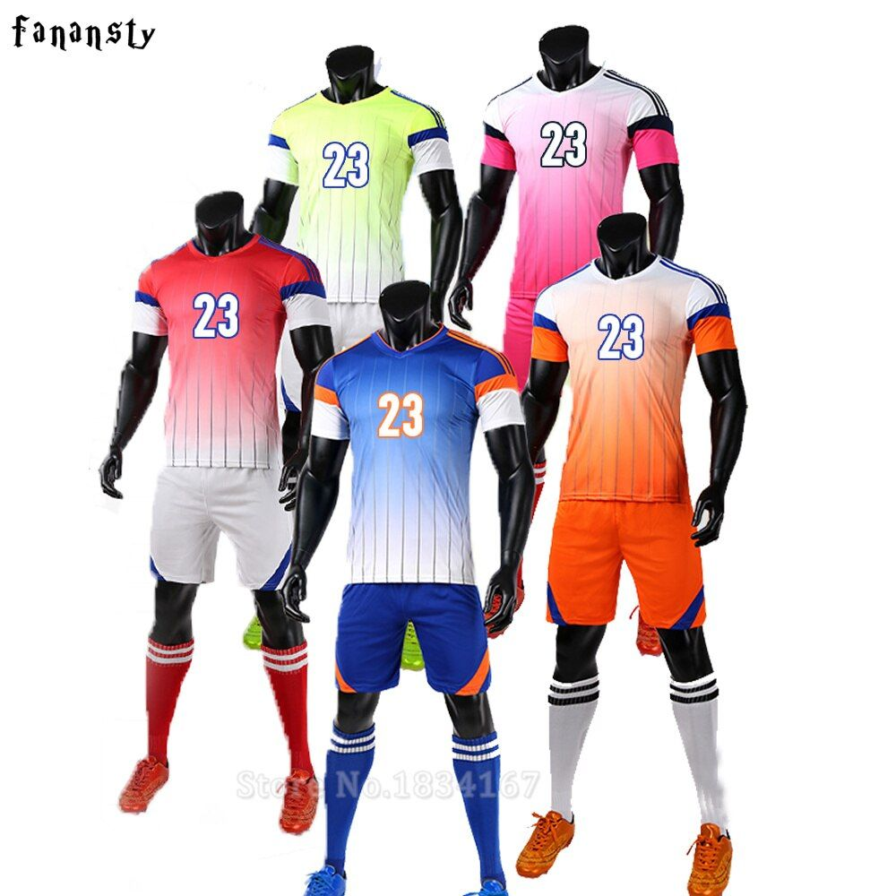 Футбол Майки мужчин колледж пользовательские футбол Майки дешевые Футбол комплект дышащий Футбольная форма комплекты survetement футбол 2017