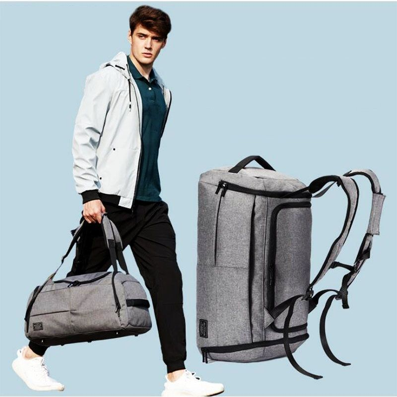 35L Men Multi-function Gym Bag Black/Gray Large Capacity Travel Bags Male Outdoor Basketball Training Crossbody Shoulder Bags