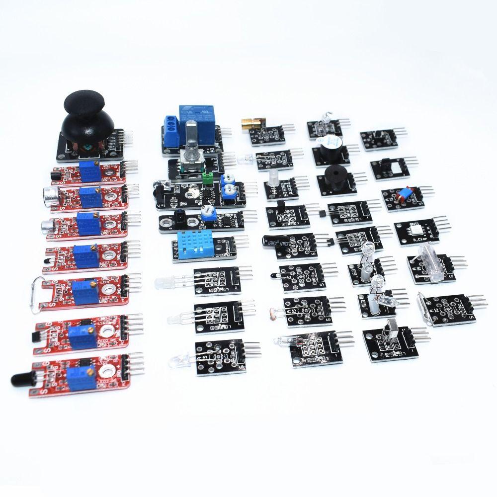 Сенсор комплект 37 в 1 Сенсор комплект/rrgb/джойстик/светочувствительная/звук обнаружения/препятствием избегание/ звонок для Arduino