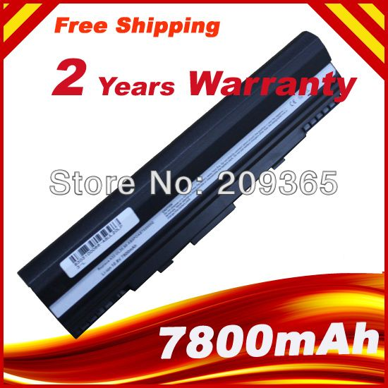 7800mAh  9 CELLS  laptop battery For 90-NX62B2000Y 9COAAS031219 A31-UL20 A32-UL20  Eee PC 1201 1201HA 1201N 1201T UL20A UL20FT