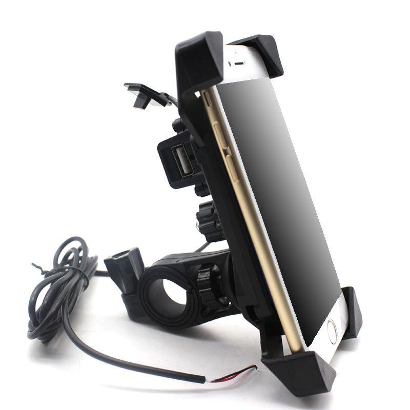 Universel Moto Chargeur Guidon Mont Téléphone Titulaire 12 V USB Chargeur Vélo Téléphone Chargeur Support Pour Honda Yamaha Kawasaki
