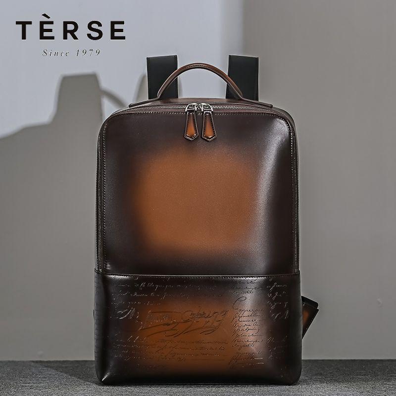 Herren-Rucksack Aus Echtem Leder Mode Stil Zurück Tasche Handgemachte Vintage Casual Reisetasche LN9693-1