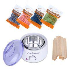 Épilation Électrique Réchauffeur De Cire Machine Chauffe-avec 400g Cire Haricots 20 pcs Autocollants Bikini Cheveux Sets de Déménagement Épilation Kit