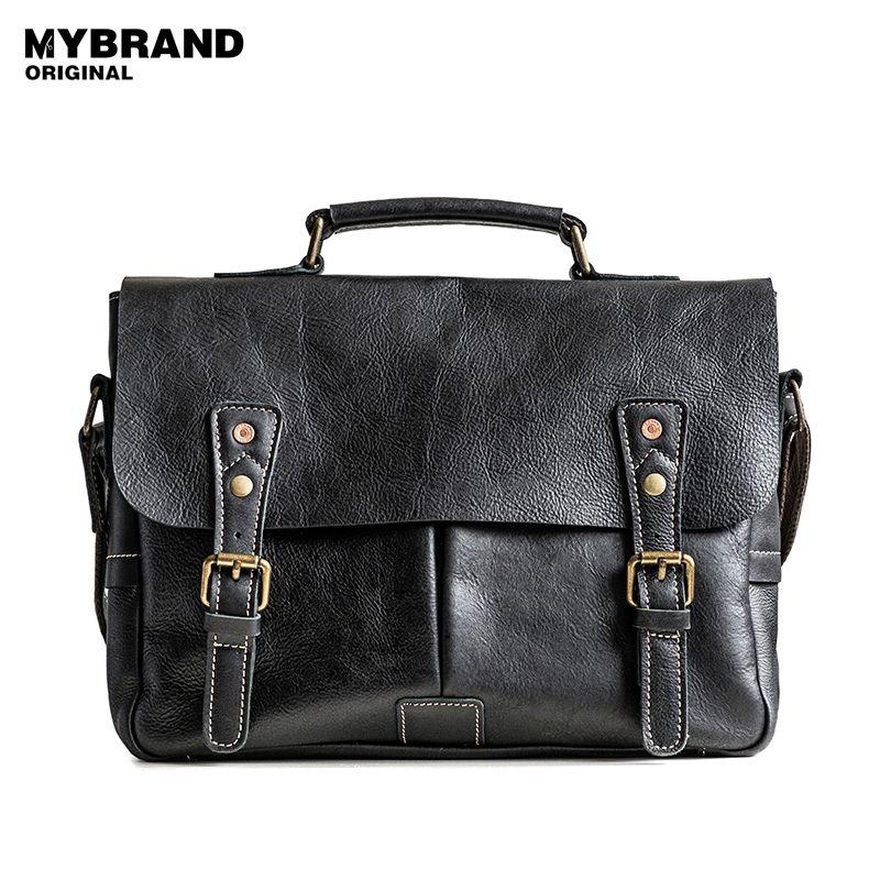 MYBRANDORIGINAL messenger bags genuine leather bag men briefcases crossbody bags for man handbag casual men's leather bag B104