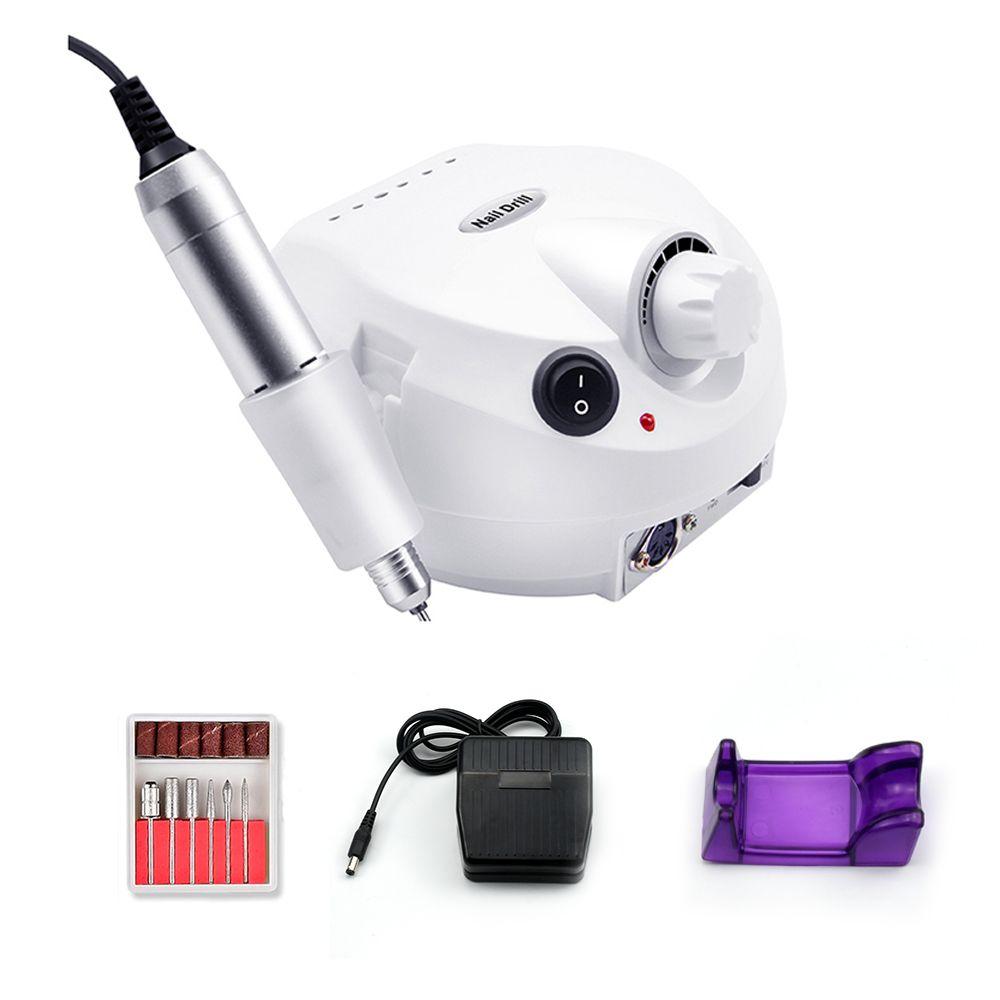 Pro 35000 tr/min perceuse à ongles électrique Machine à manucure électrique perceuses accessoire Kit de pédicure perceuse à ongles lime outils à ongles