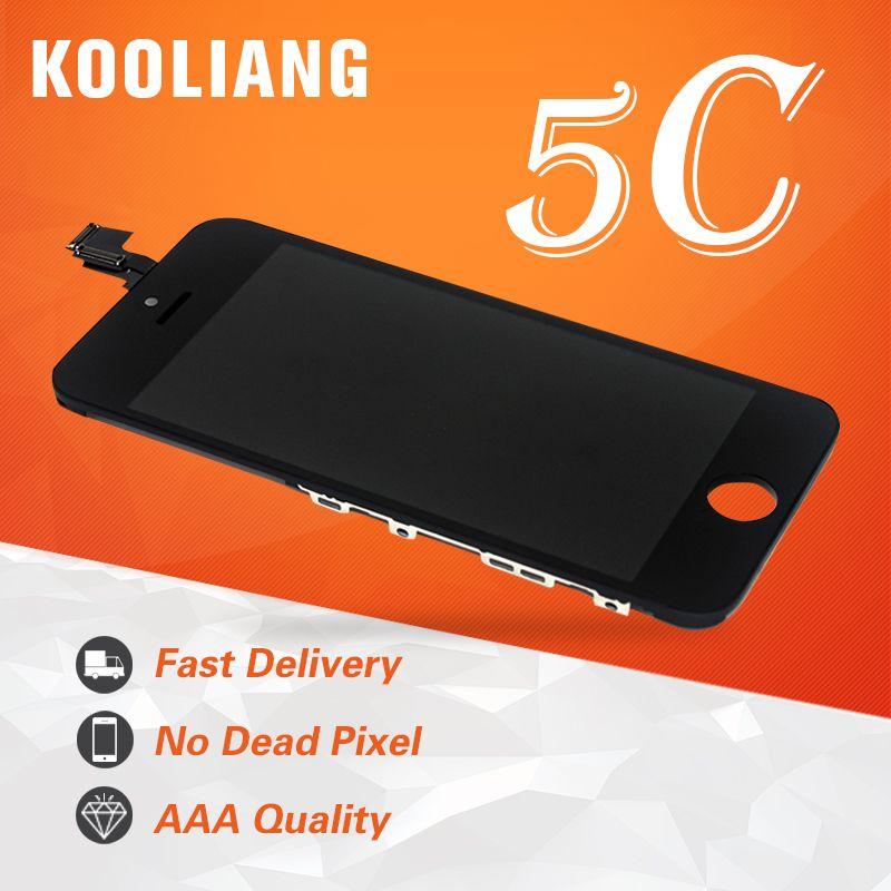 Entrepôt russe pour iphone 5C 5 5g 5 s LCD écran d'affichage assemblée avec numériseur verre réparation remplacement