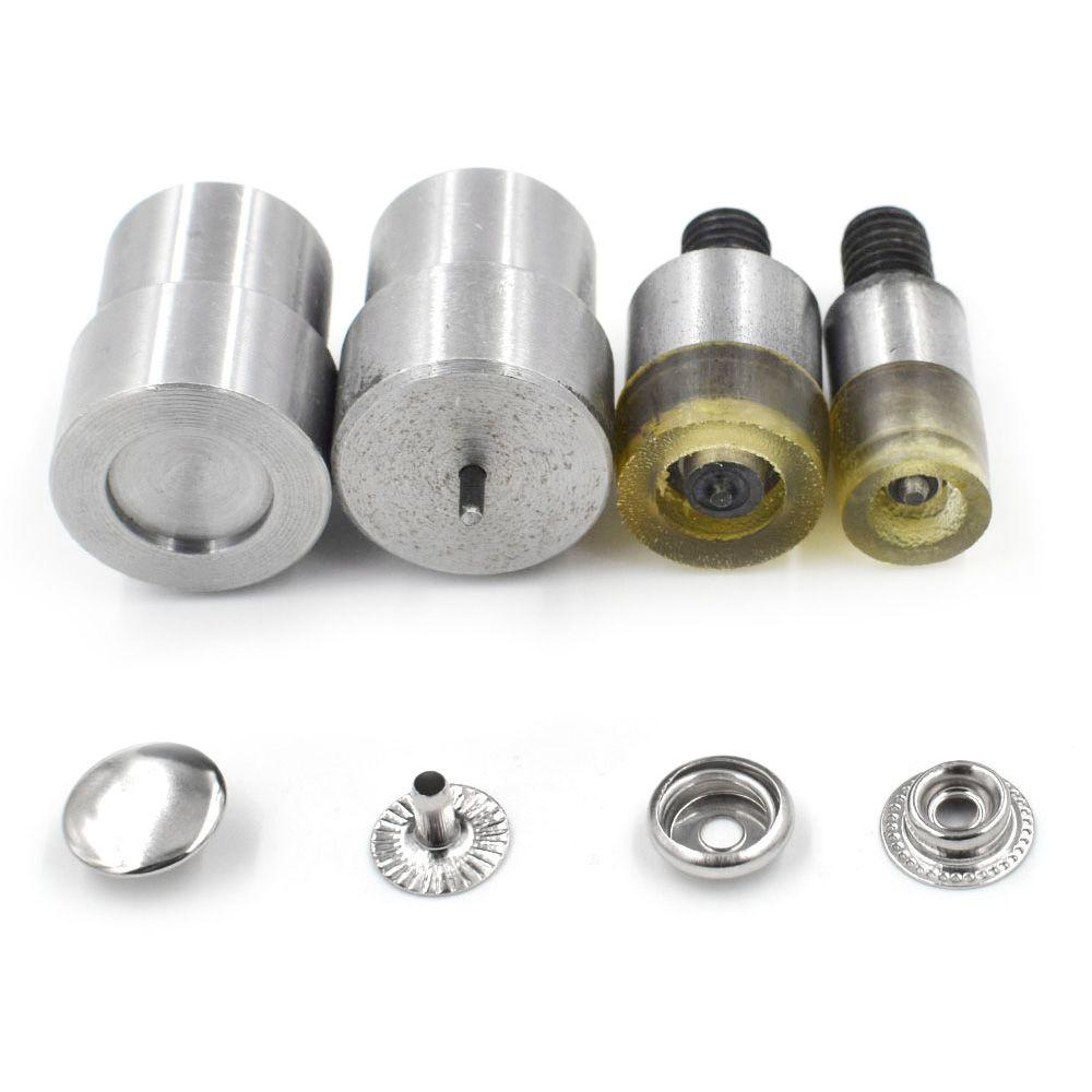 Moules à bouton pression 15mm 12.5mm. Matrices de réparation de couture outils d'installation de boutons en métal. outils d'installation snapn oeillets métalliques