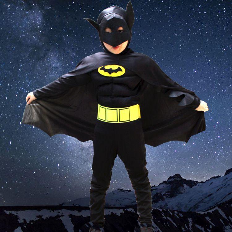Cagiplay New Kids Deluxe Muscle Темный рыцарь Бэтмен ребенок Хэллоуин вечернее изящное платье Обувь для мальчиков супергерой карнавал Косплэй костюм