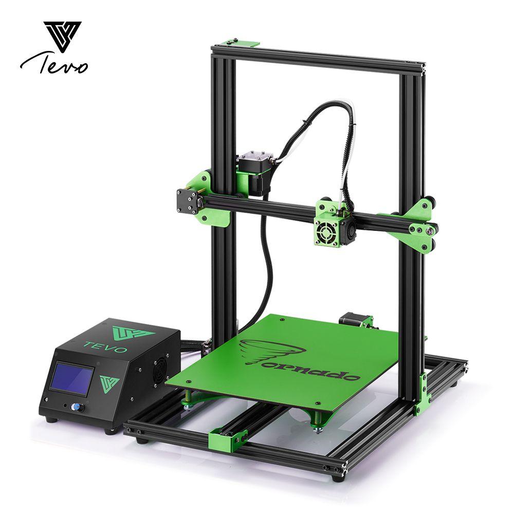 2018 New TEVO Tornado Impresora 3D 3D Printer Imprimante 3D Full Aluminium Frame Upgraded motherboard with Titan Extruder
