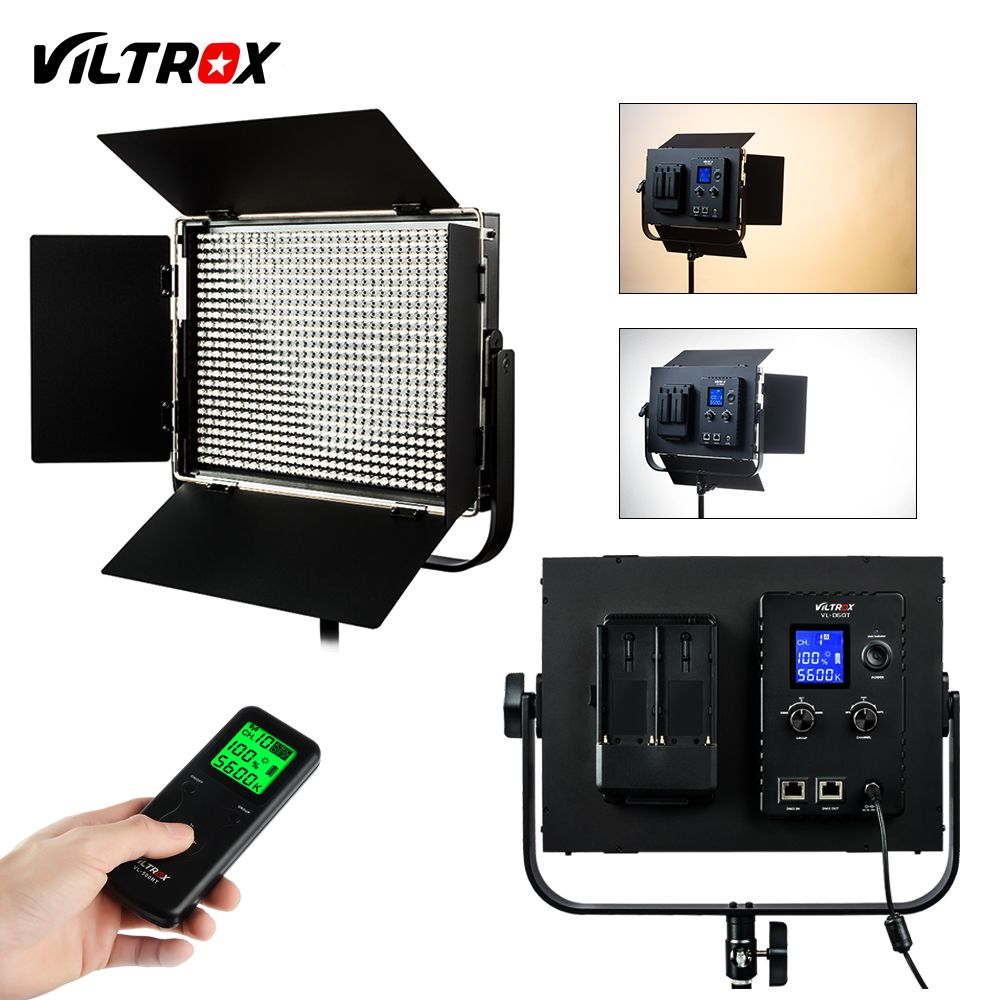 Viltrox VL-D60T Pro 60W Wireless Remote Studio Video LED Light Bi-Color & Dimmable +DC Power Adapter for Photography Interview