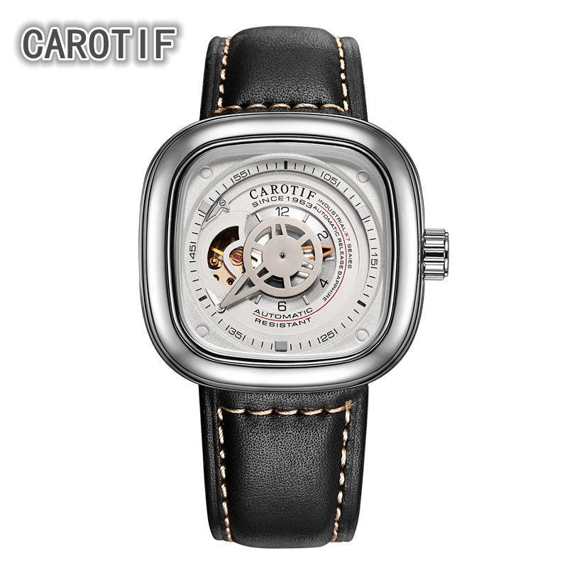 CAROTIF High Quality Tourbillon Men Watches Montre HommeTop Brand Luxury Business Watches Men Automatic Mechanical Wrist Watches