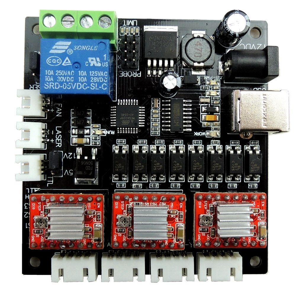 GRBL LASER CNC carte contrôleur Mini machine de gravure USB CNC 3 Axes Moteur Pas À Pas Pilote de Carte Contrôleur + un USB câble