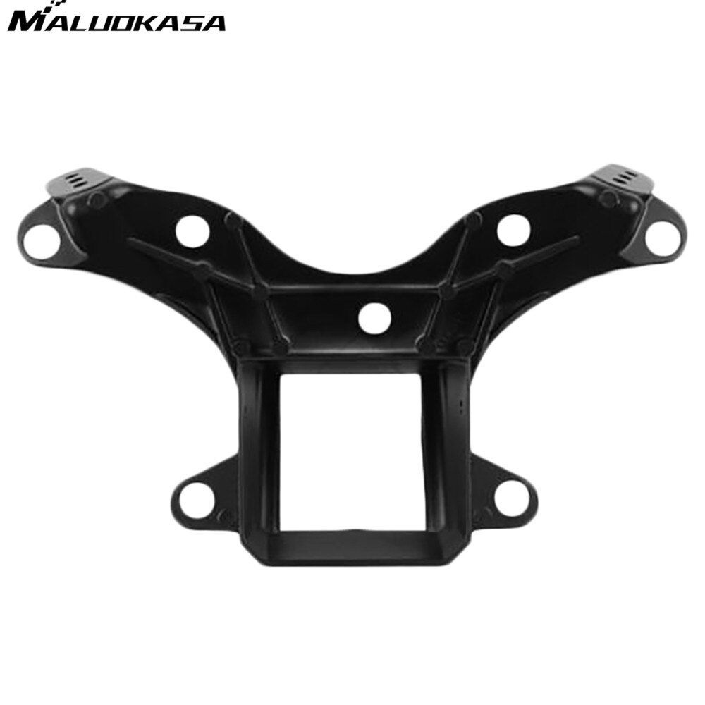 MALUOKASA Motorcycle Black Front Upper Stay Bracket Fairing Headlight Bracket For Yamaha YZF R6 2006 2007 R6S 2006 Motor Frames