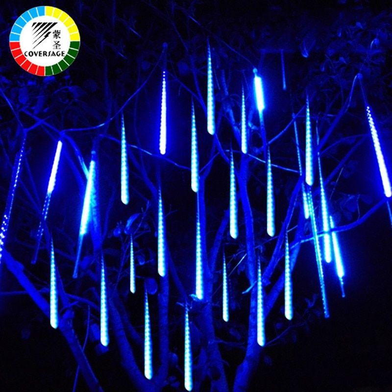 Coversage 30CM Led Meteor Shower Rain <font><b>Tubes</b></font> Waterproof Outdoor Decoration Curtain Garland Christmas Tree Guirlande Lumineuse
