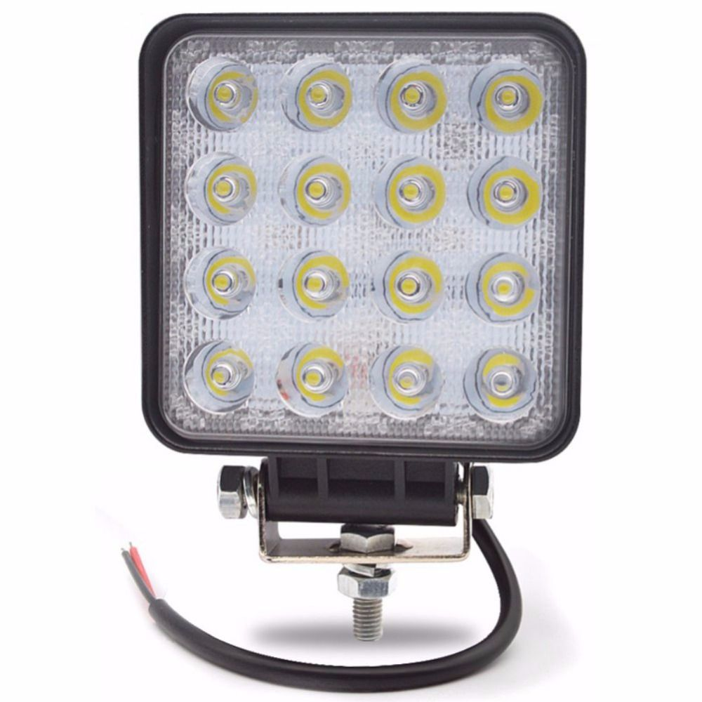 1Pcs LED Work Light 4.2 Inch 48W 12V-24V Spot/Flood LED Offroad Light Lamp Worklight for Off road ATV Motorcycle Car Truck