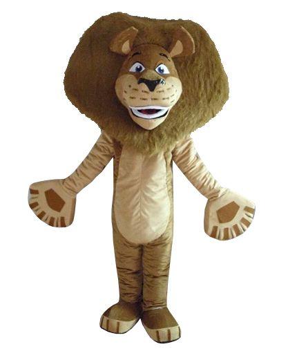 cosplay costumes Madagascar Lion Alex Mascot Costume Animal Mascot adult Costume Free shipping
