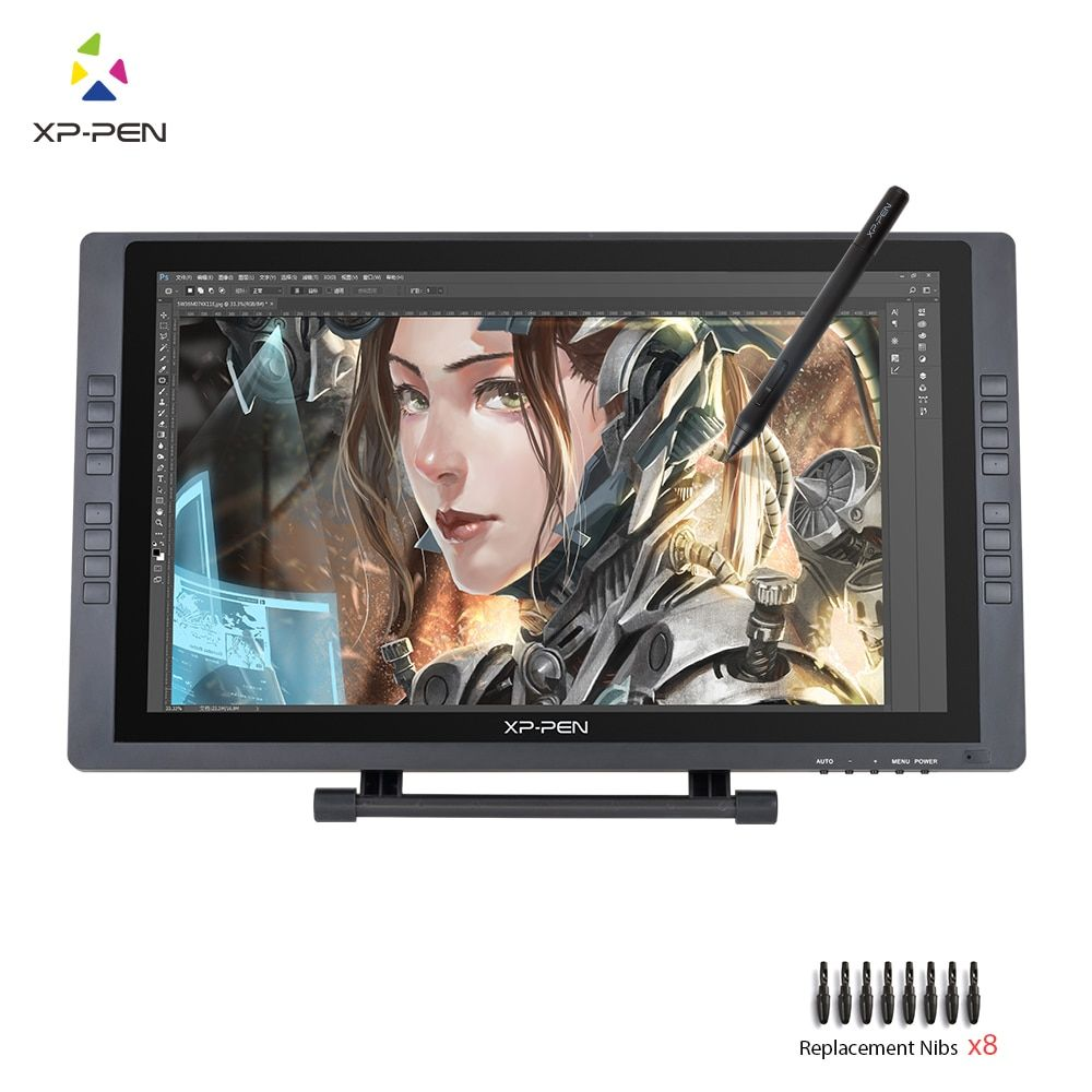 XP-Pen Artist22E FHD IPS Digital Graphics Drawing Monitor Pen Display Monitor with Shortcut keys and Adjustable Stand