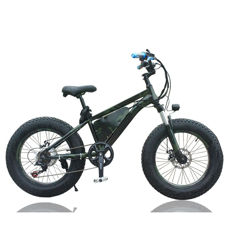 Electric bicycle 20-inch lithium snowmobile 36V bike shock absorber speed bike Life mileage 25-35km Prevent slippery snow BIKE