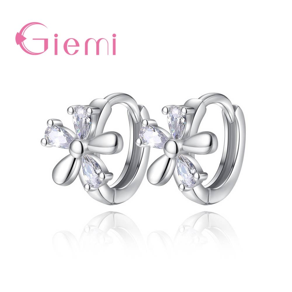 925 Sterling Silver Classic Square Austrian Crystal Stone Earrings Bridal Wedding Ceremony Propose Jewellery