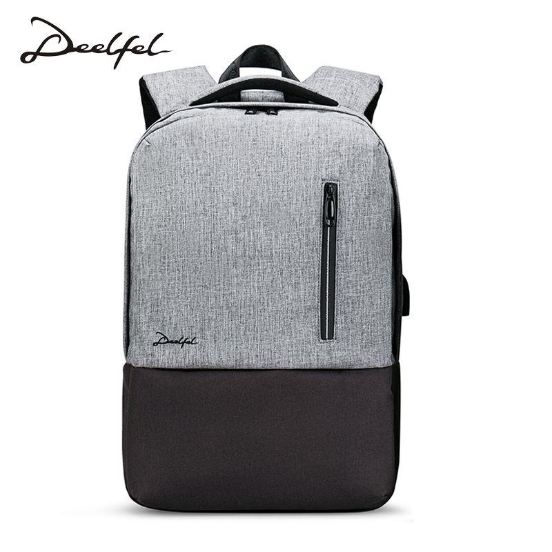 Deelfel Anti-Thief USB bagpack 15.6inch laptop backpack for women Men school backpack Bag for boy girls Male Travel Mochila