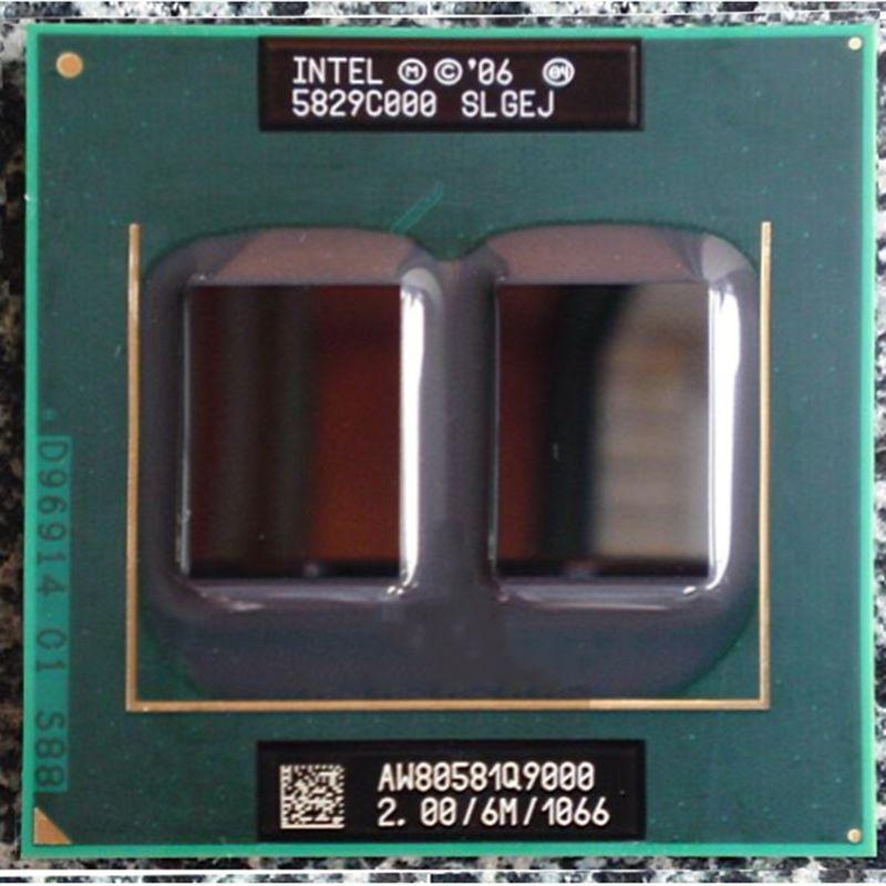 Pièces rayées d'origine intel Q9000 2.0 GHz/6 MB/1066 MHz/quad core PGA478 pour GM45 PM45