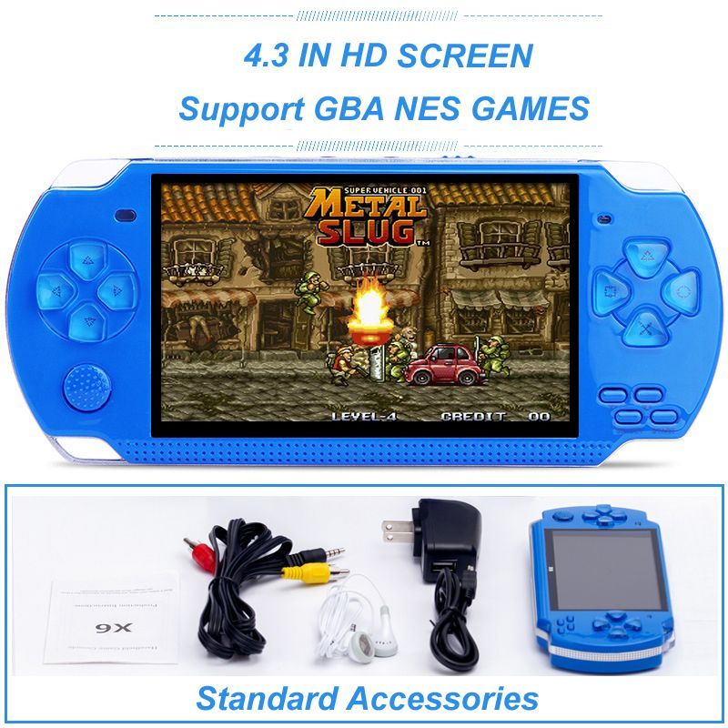 8G 4.3 IN Support GBA/NES Games Handheld Game Player Built-in Hundreds Classic Games Support MP3 Video Camera Game Player