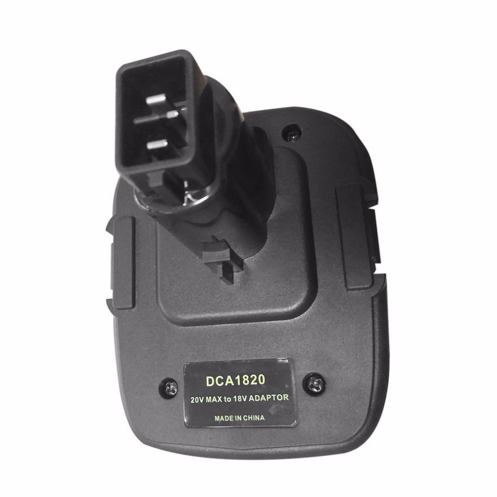 Onleny Профессиональный dca1820 20 В до 18 В Батарея конвертер инструмент адаптер для DEWALT 18 В слайд Батареи беспроводные Мощность инструмент