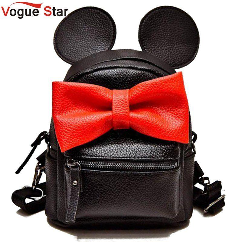 Vogue Star 2018 mini backpack female bag quality pu leather women backpacks Korean version of ears sweet bow College Wind LS535