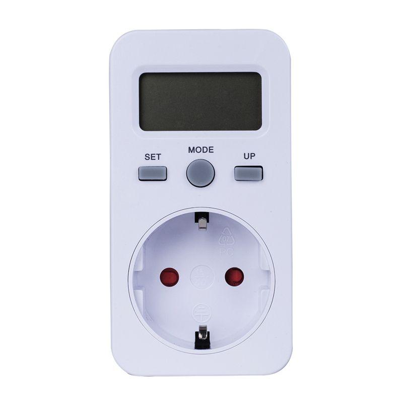 Plug-in Digital wattmeter LCD Energy Monitor Power Meter Electricity Electric swr meter Usage Monitoring Socket EU Plug