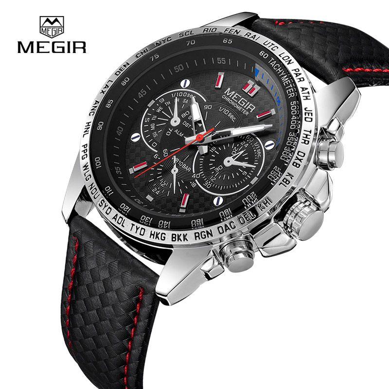 <font><b>MEGIR</b></font> Men's Watches Top Brand Luxury Quartz Watch Men Fashion Casual Luminous Waterproof Clock Relogio Masculino 1010