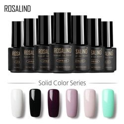 ROSALIND Gel 1 VENTE CHAUDE 29 COULEURS 7 ML Gel Vernis À Ongles Nail Art UV LED Gel Laque Pour L'extension des Ongles Conception Top Gel Vernis