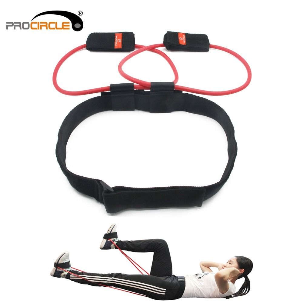 <font><b>Fitness</b></font> Women Booty Butt Band Resistance Bands Adjustable Waist Belt Pedal Exerciser for Glutes Muscle Workout Free Bag