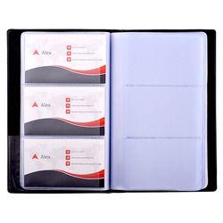 PU En Cuir Livre de Carte de Visite Titulaire Journal Organisateur Carte De Visite Nom Carte Livre Titulaire-Tenir 240 Cartes Noir