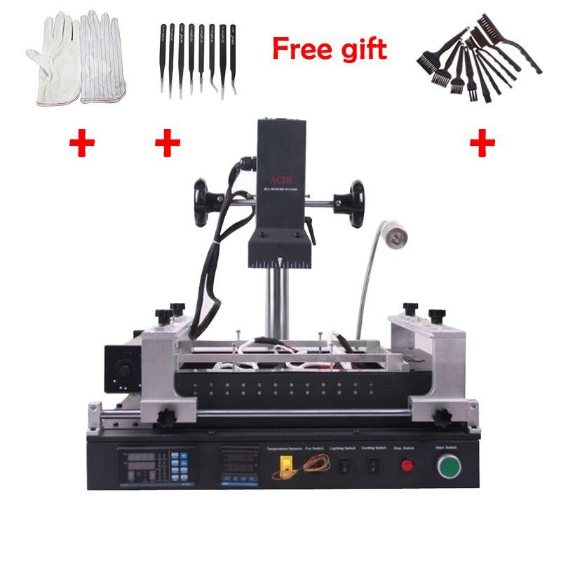 ACHI IR PRO SC infrarot BGA Löten Rework Station Für Motherboard Chip PCB Reparatur Maschine Anti statische handschuhe Pinzette pinsel