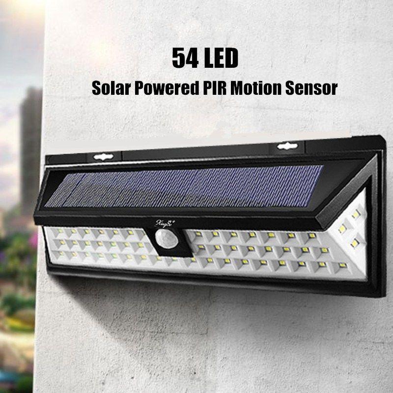 Mising 54 LED Solar Light White Solar Power Outdoor Garden Light Motion Sensor Pathway Wall Lamp Waterproof