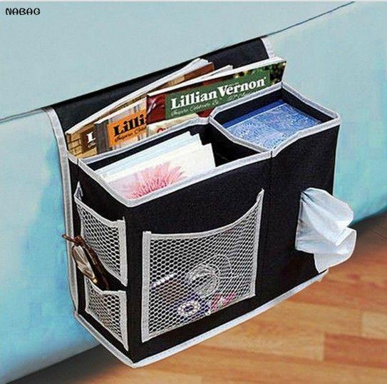 1 PC Homewares chevet canapé sac de rangement articles divers étui organisateur ménage sac suspendu pour télécommande Magazines téléphone