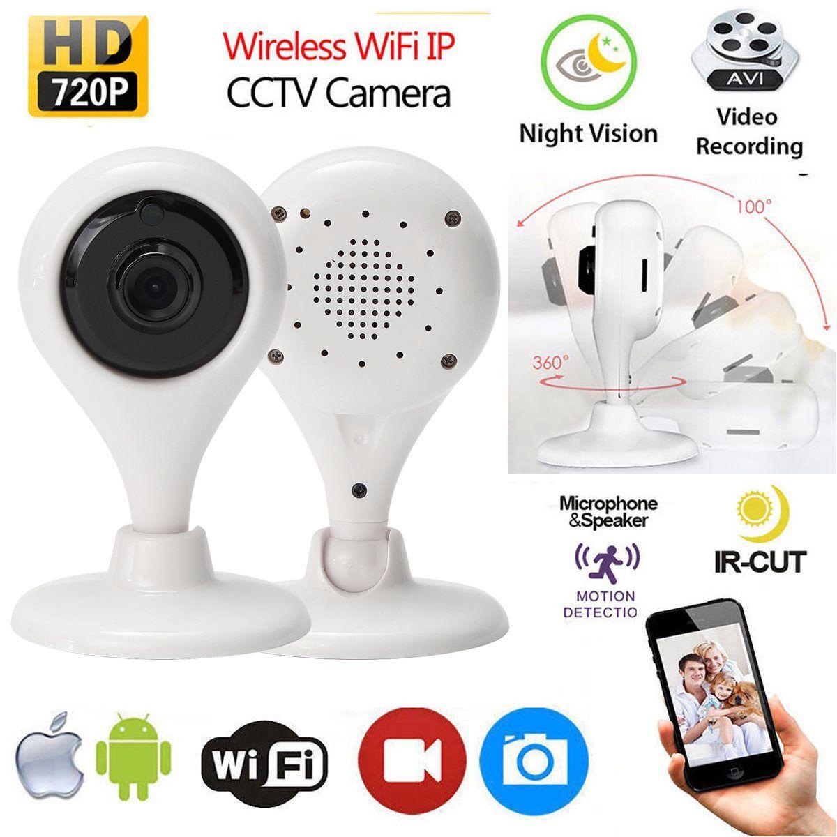 Новые HD 720 P Smart Беспроводной удаленного WI-FI IP CCTV Камера Открытый безопасности сети Ночное видение Камеры Скрытого видеонаблюдения для montors