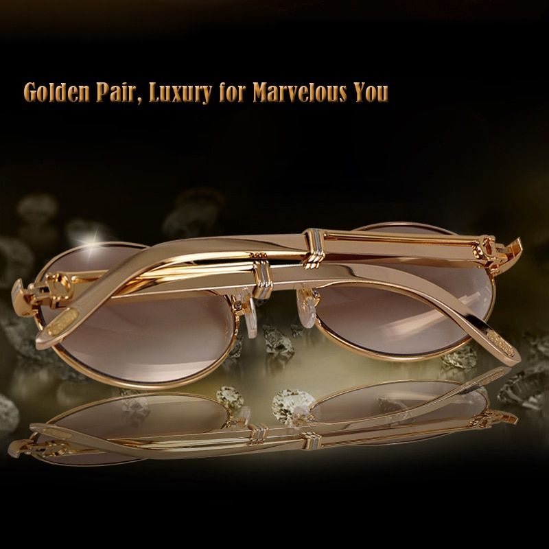 Luxury Gold Carter Sunglasses Men Frames Carter Glasses Round Sunglass 2018 Vintage Retro brand designer Sun glasses Women