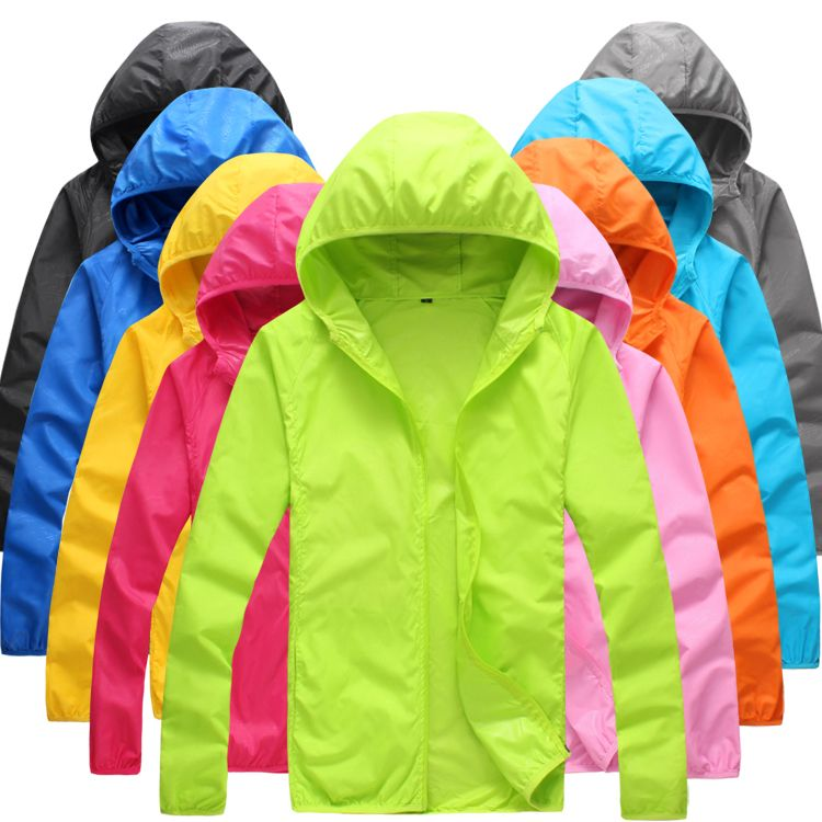 <font><b>Foldable</b></font> Quick Dry Outdoor Camping Jackets Summer Windbreaker Waterproof Windproof Sun-protection Thin Hiking Hooded Jacket