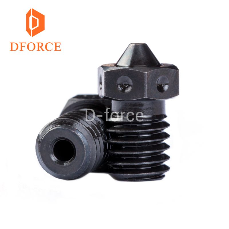 Dforce trianglelab 1PC Top quality A2 Hardened Steel V6 Nozzles for printing PEI PEEK or Carbon fiber filament for E3D HOTEND